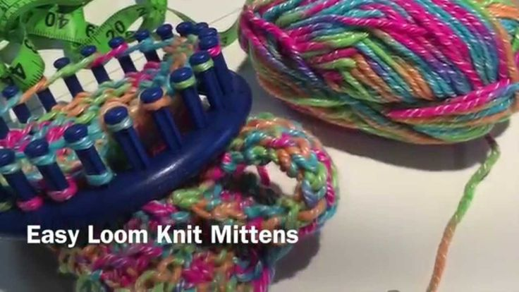 Easy Round Loom Knitting Ideas : Easy loom knit mittens loop knitting pinterest knits