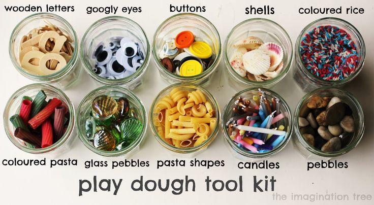 play dough tool kit - lots of playdoh ideas & recipes