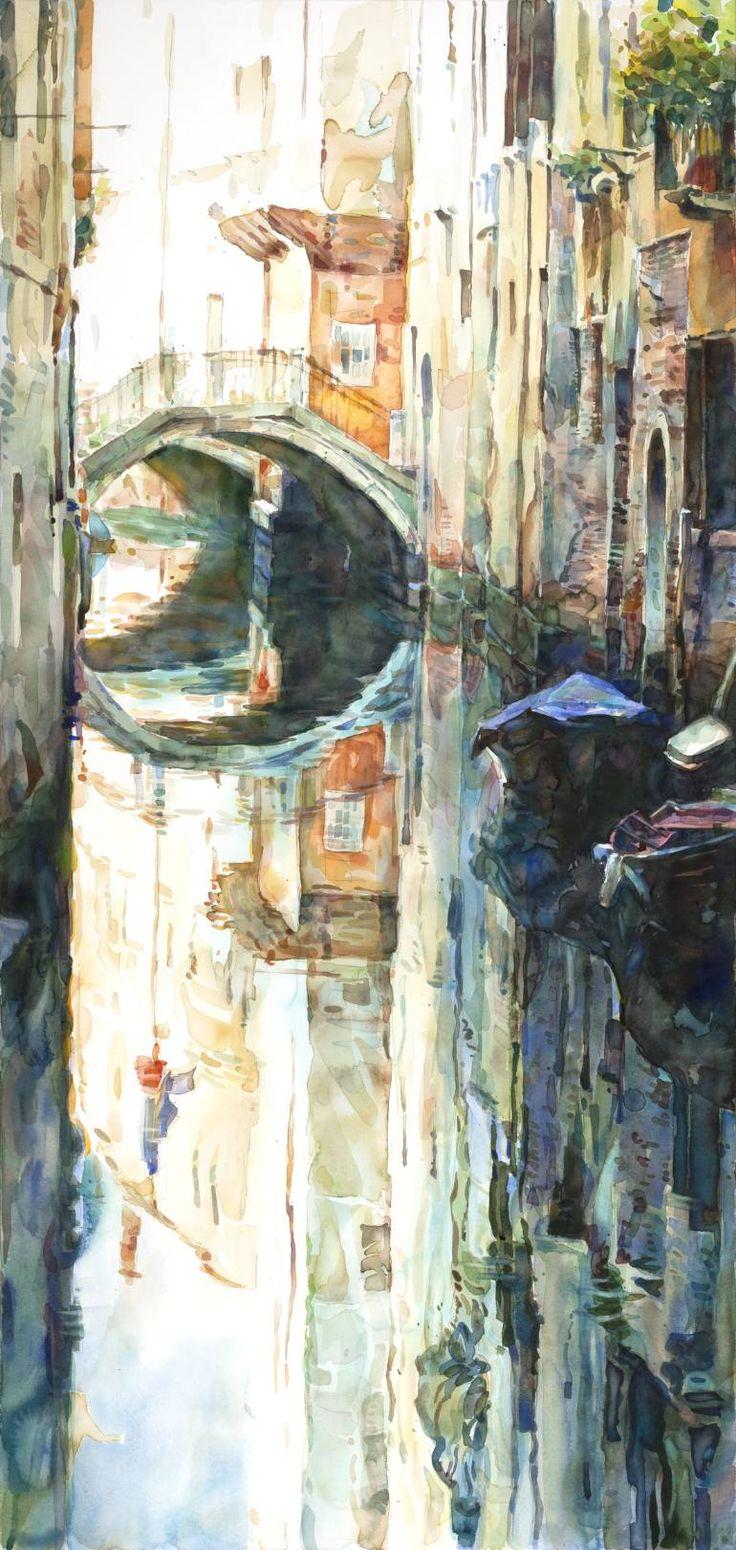 Watercolor art history - Alleys No 2 Saatchi Onlinewatercolor Paintingswatercoloursaatchi Artart Historyartsy