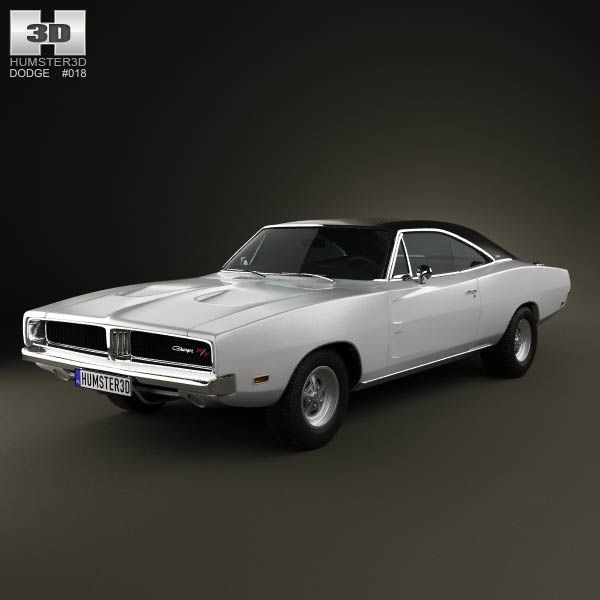 Dodge Charger RT 1969 3d model from humster3d.com. Price: $75