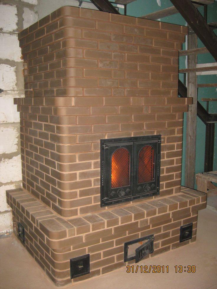 Кирпичная печь-камин