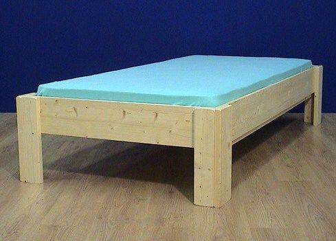 Bed Boris simpel en stevig puur massief hout