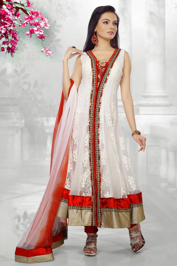Alluring White #Salwar Kameez