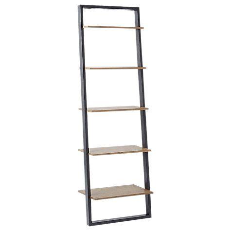 Buy west elm Mid-Century Wide Ladder Wood Shelving Unit, Sandstone/Shale Online at johnlewis.com
