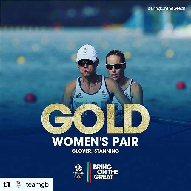 #Repost @teamgb with @repostapp ・・・ #GOLD Truly inspirational performance!! Helen Glover & Heather Stanning, this is your moment #BringOnTheGreat #Rio2016 #teamgb #olympicgames #Rowing