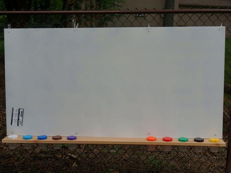 Kids Outdoor Paint Station Easel A Sheet Of Plexiglass