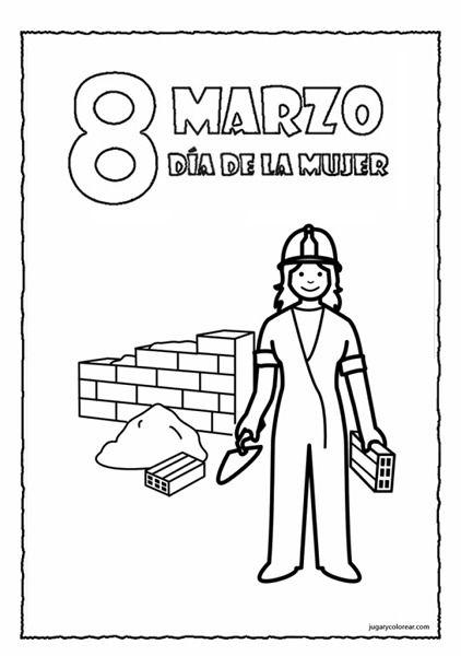 Día Internacional De La Mujer Trabajadora Plantillas Dibujo