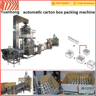 Automatic Packing Line For Industry Automation in the future: Automatic bottle into box packing line