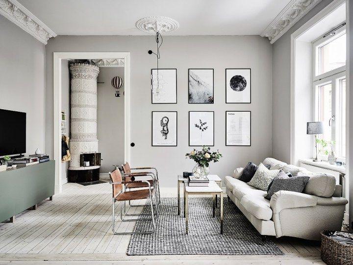 Post: Gris perla, mint y detalles elegantes --> blog decoración nórdica, chimeneas suecas, cocinas nórdicas blancas, decoración dormitorio, decoración gris mint, decoración salón nórdico, detalles elegantes deco, estilo nórdico escandinavo, interiores espacios pequeños