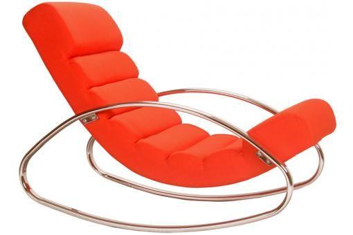 Fauteuil Rocking en Acier Orange BLOOM design pas cher sur SoFactory