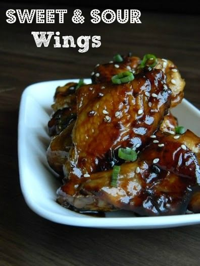 Sweet and Sour Chicken Wings Recipe #chicken #wings #recipe