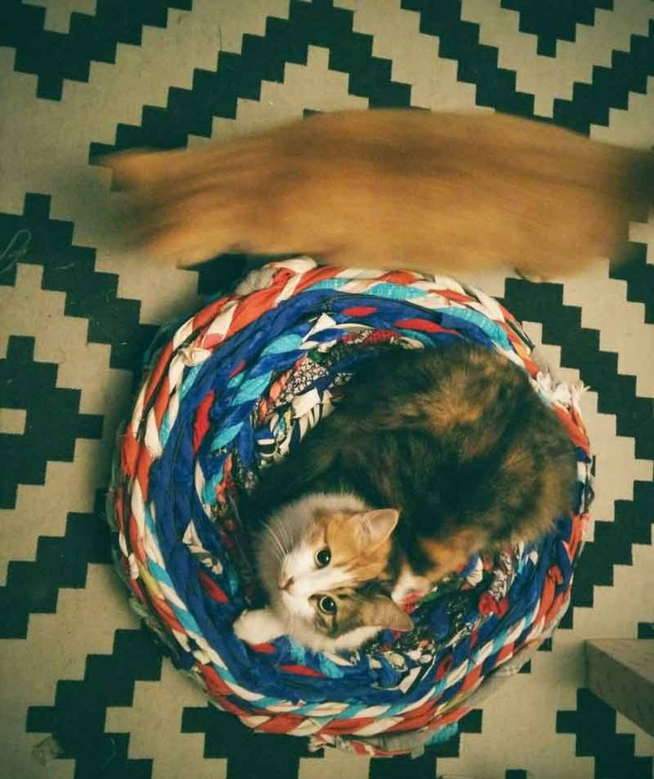 I had this wonderful little bamboo pouf from ikea, but it was totaly destroyed from my cats nails (anyone who has cats knows how that feels he he). I had it for some time now in a corner because i …