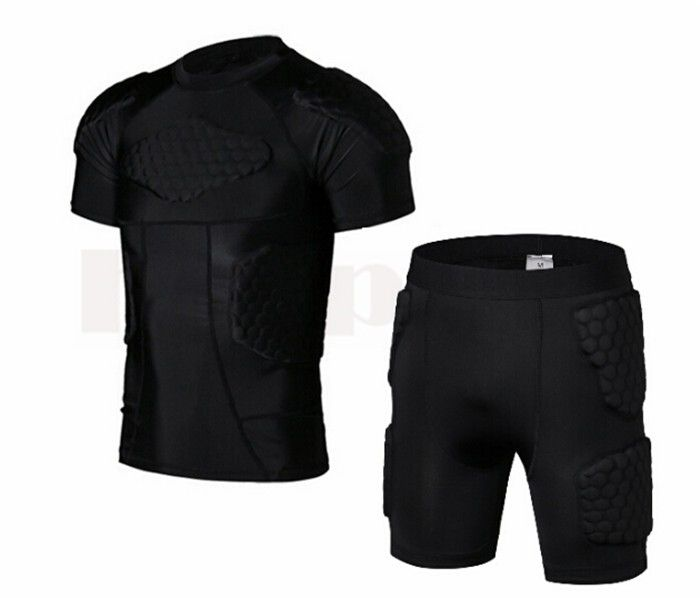 21.89$  Watch now - http://alia90.shopchina.info/go.php?t=32804804150 -  Pro cellular Sports Protector Rugby ball Football soccer Basketball Protective Shorts Anti Crash jersey Pads Armor Vest Shirt 21.89$ #magazineonline