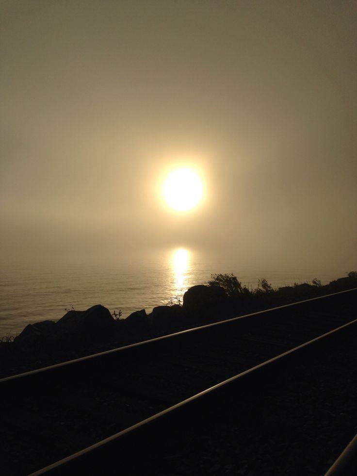 Sun in foggy day