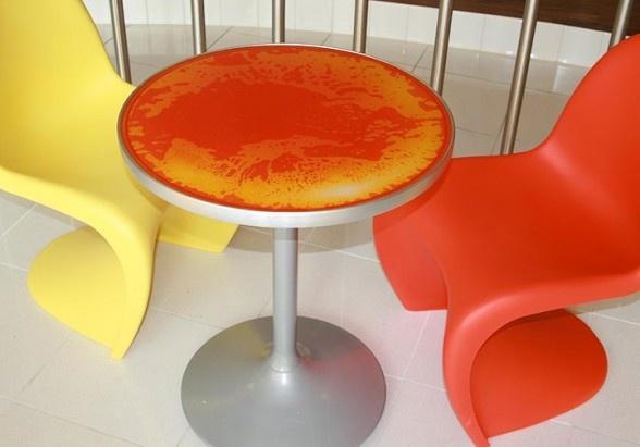 Table Top Jockimo Transparent Backlit Liquid Lava Tiles