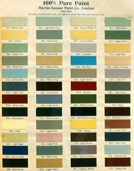 The Great Divide What Happened To Colours In 1900 Old House Colors House Paint Colorsexterior