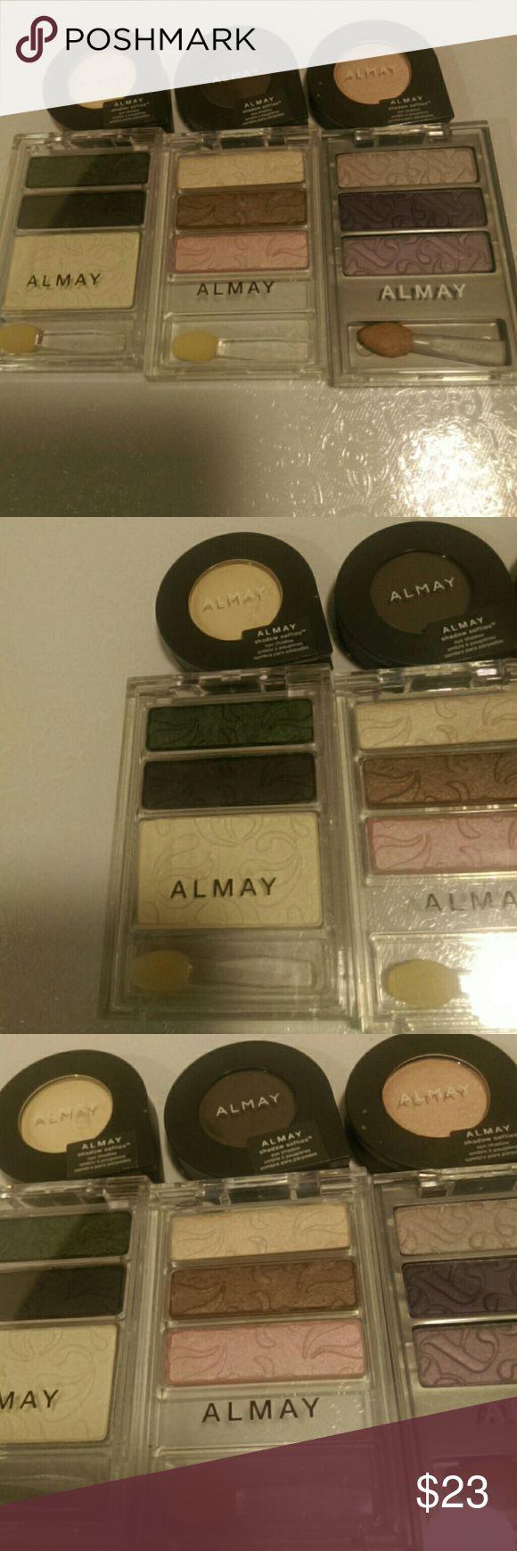 Almay Eyeshadow New. Eyeshadow 155 Cashmere, 150 Smoke, 125 Creme Brulee I-color trio Almay Makeup