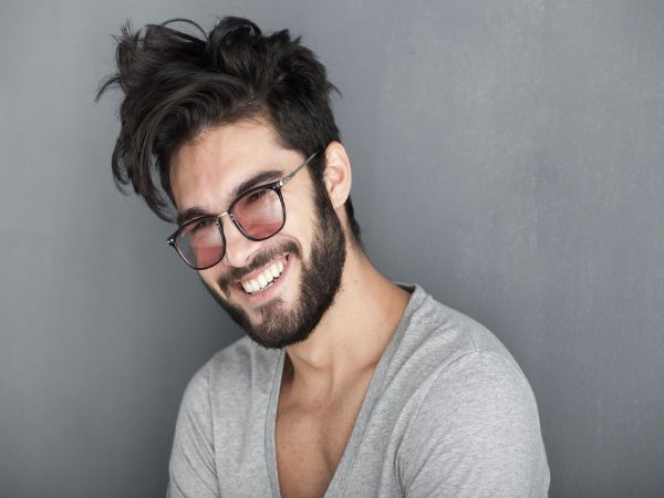messy short hair with beard - Bundle of Ideas.