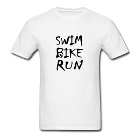 Celebrate triathlon and your active lifestyle with this Swim Bike Run design. This t-shirt design is perfect for triathletes and other athletes.