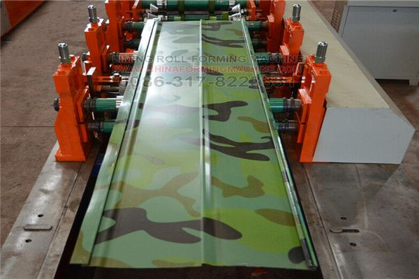 #cladding #panel #making #machine is to produce wall panels, thickness usually from 0.3mm to 0.7mm. Two panels can be overlap joint with each other very well. Regarding the cladding panel making machine, it is designed for trading company. It is our improved type, The wall plate of roll forming part is the cast iron screwed on the based frame, which is the whole part, does not have any weld, can not be affected by the stresses after long time fast working.