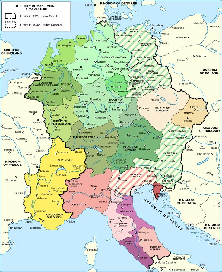 Holy Roman Empire circa 1000 AD