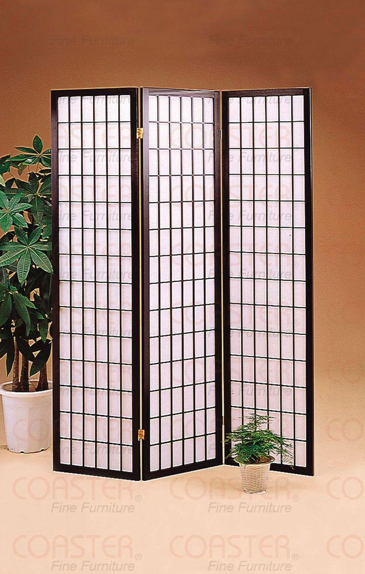 3 Panel Black Folding Screen / Room Divider by Coaster http://www.ashleydeals.com/black-screen-room-divider-coaster-4622.html #Three #Panel #Black #Folding #Screen #Room #Divider #Coaster