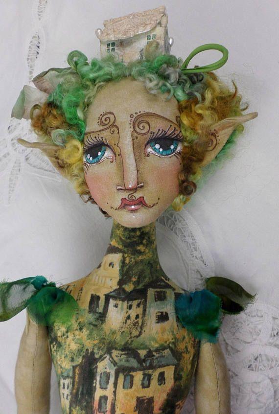 OOAK Fairy Art Doll  Arabelle Tara Greenwood  by Paula McGee
