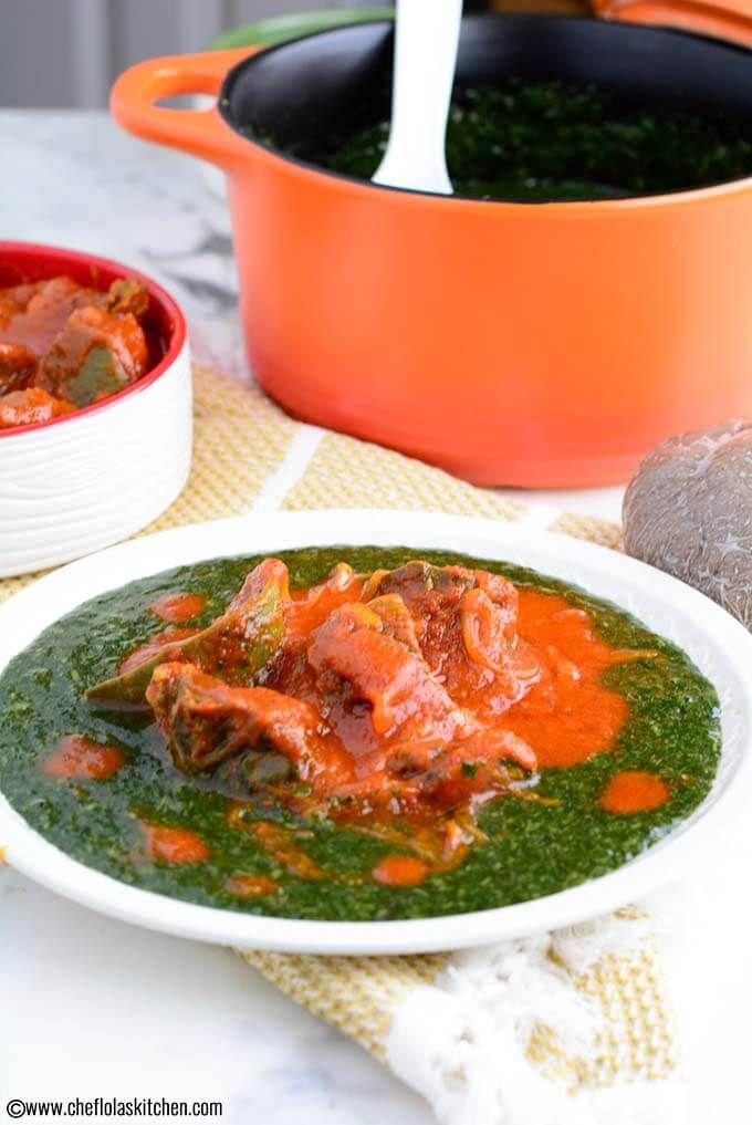 Jute Leaves Soup Ewedu Mulukhiyah Or Molokhia Recipe Okra Soup Recipe Swallow Food Delicious Soup