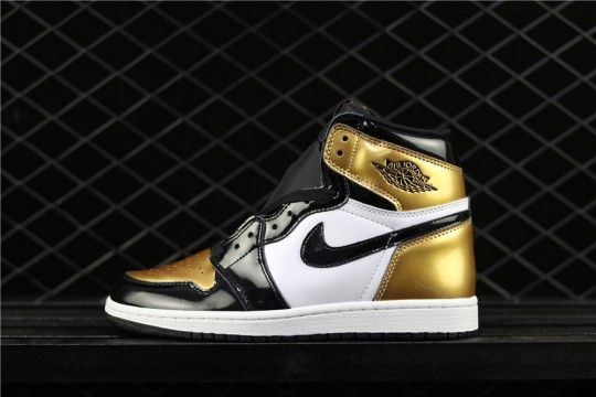 "eace666111ec Air Jordan 1 Retro High OG""Gold Toe"" AQ7474-001. Find this Pin and ..."