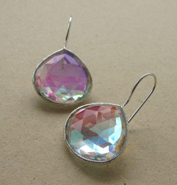 Mystic Topaz Earrings- Sterling Silver