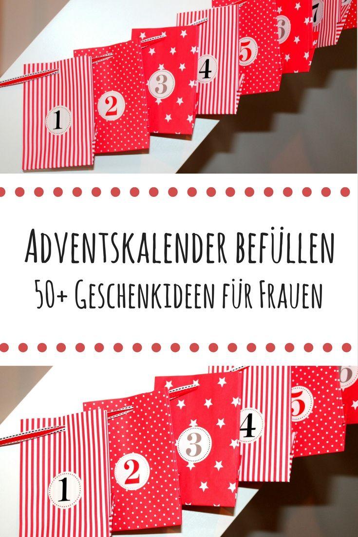 DIY Adventskalender befüllen die Besten 50