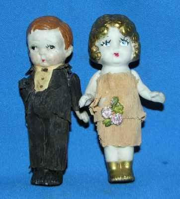 Kewpie Bisque Wedding Cake Toppers