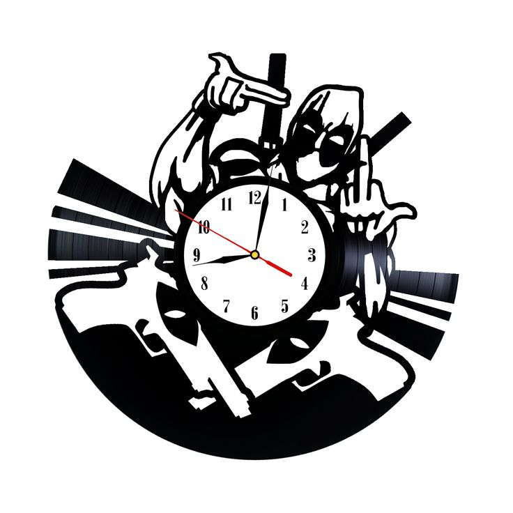 If you acquire new abilities, use them in a proper way as Deadpool did. We present an awesome and trendy Deadpool Wall Clock made of vinyl record for those who can not wait for Deadpool premiere.