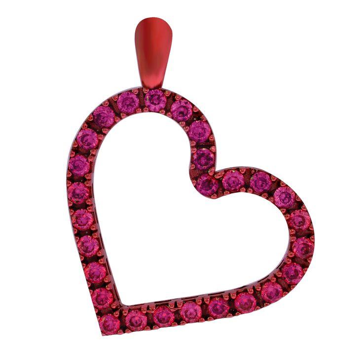 cuore rosso rubino