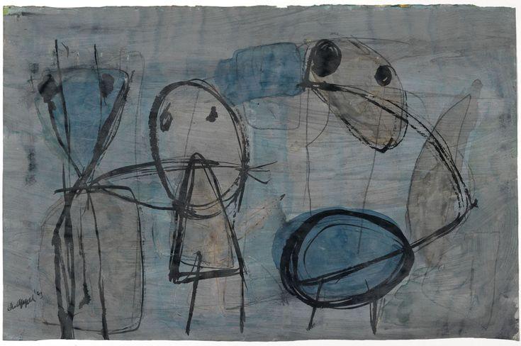 "Karel Appel, ""Untitled"" (1949) (all images courtesy the Karel Appel Foundation / Adagp Paris, 2015; all photos by Tom Haartsen Ouderkerk)"