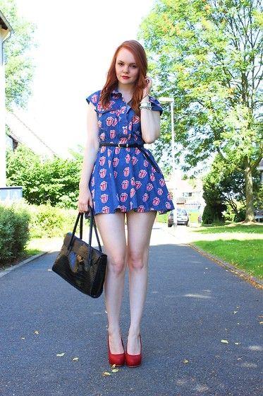 Sheinside Dress, Primark Heels, Vintage Bag