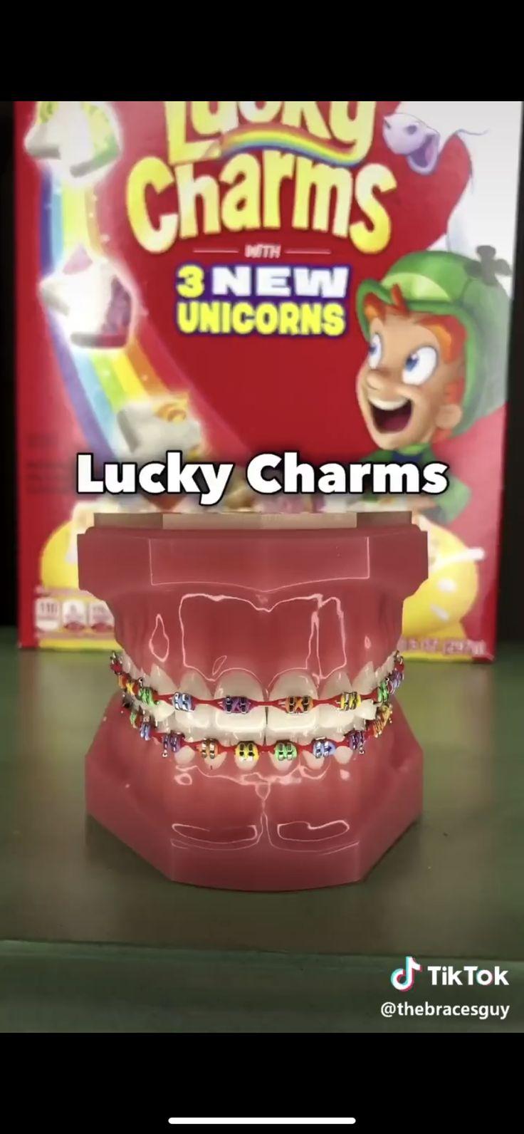 Cereal in 2020 braces teeth colors getting braces