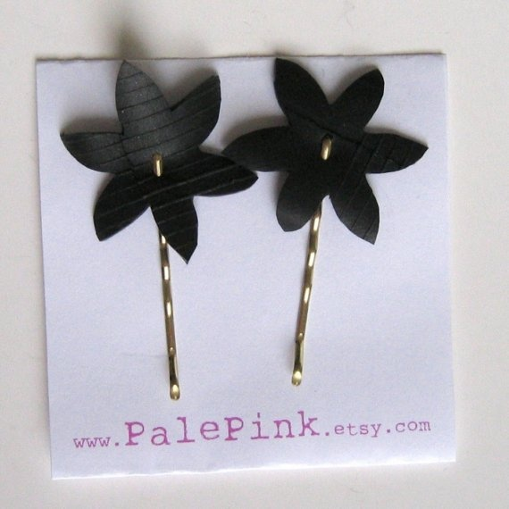 inner tube flower bobby pins