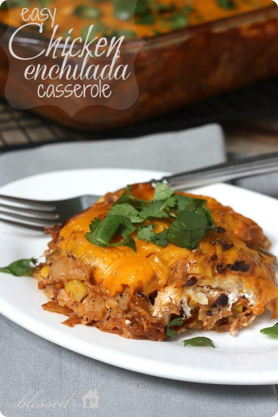 Chicken Enchilada Casserole | Recipes: Meat & Main Dishes | Pinterest
