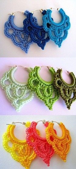 Crochet Earrings and Giveaway | Color Transformed Family