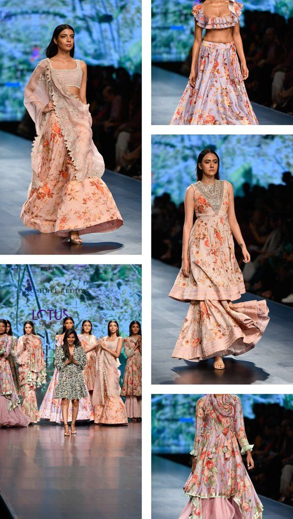 Lotus Make Up India Fashion Week Spring Summer 2019 Anushree Reddy India Fashion India Fashion Week Indian Fashion
