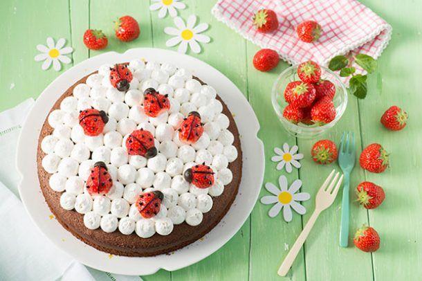 tarta de fresa para niños