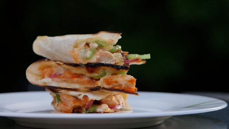 Buffalo Chicken Quesadillas Video - HealthiNation