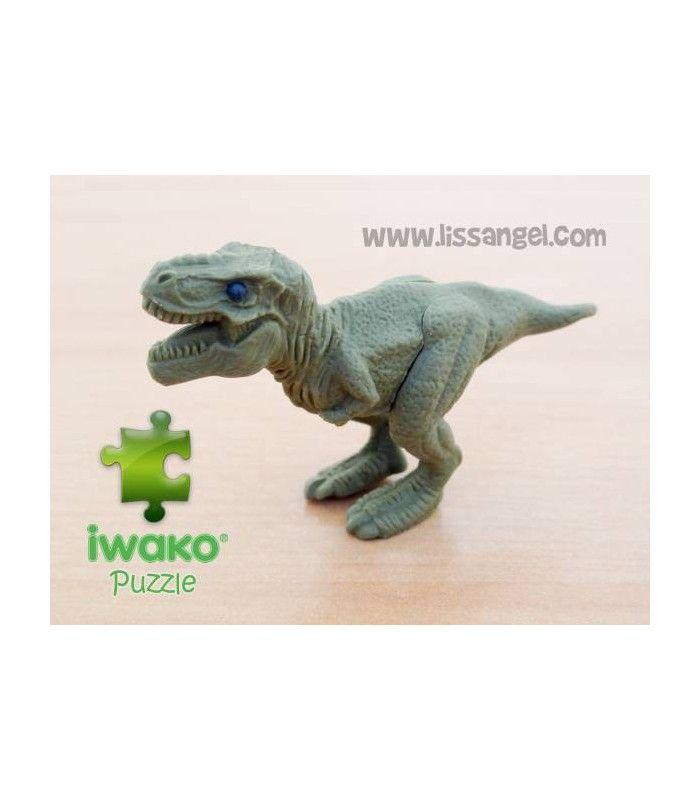 Una #goma de borrar con forma de un feroz #dinosaurio, un #Tiranosaurio#Rex! Producto original #IWAKO fabricado en #Japón. Gomas de borrar originales, totalmente desmontables. ¡Son puzzle!