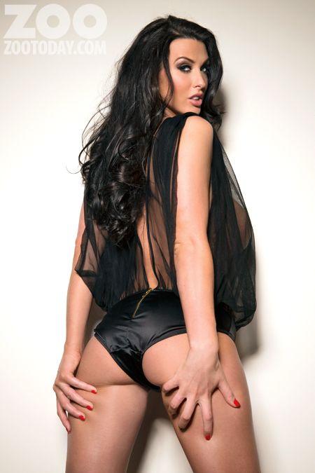 Hot brunette model date at hotel