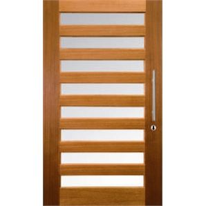 Hume 2040 x 1200 x 40mm Savoy Entrance Door G1 Clear Glass XS28