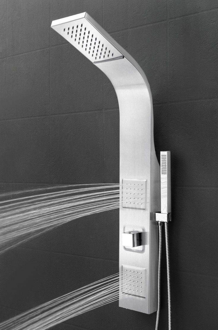 """AKDY® 39"""" Stainless Steel Wall Mount Easy Connection Rainfall Waterfall Overhead Multi-Function Shower Tower Panel Massage Spray ~ http://ever-unfolding.net/shower-panel-buying-guide/"""