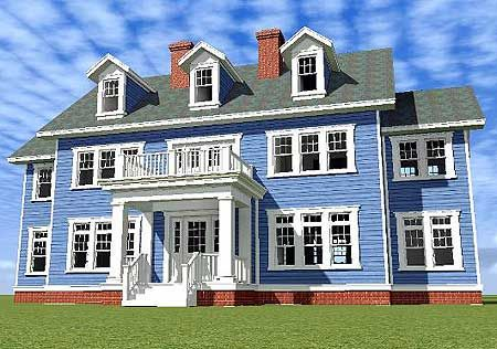 Plan W44040TD: Traditional, Colonial, Georgian House Plans & Home Designs