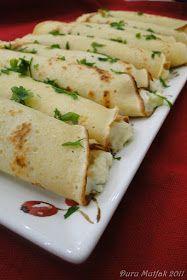Duru Mutfak - Pratik Resimli Yemek Tarifleri: Labneli Patatesli Rulo Krepler