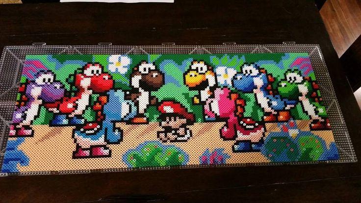 Yoshi Island Perler beads by CustomPerlerBeadArt
